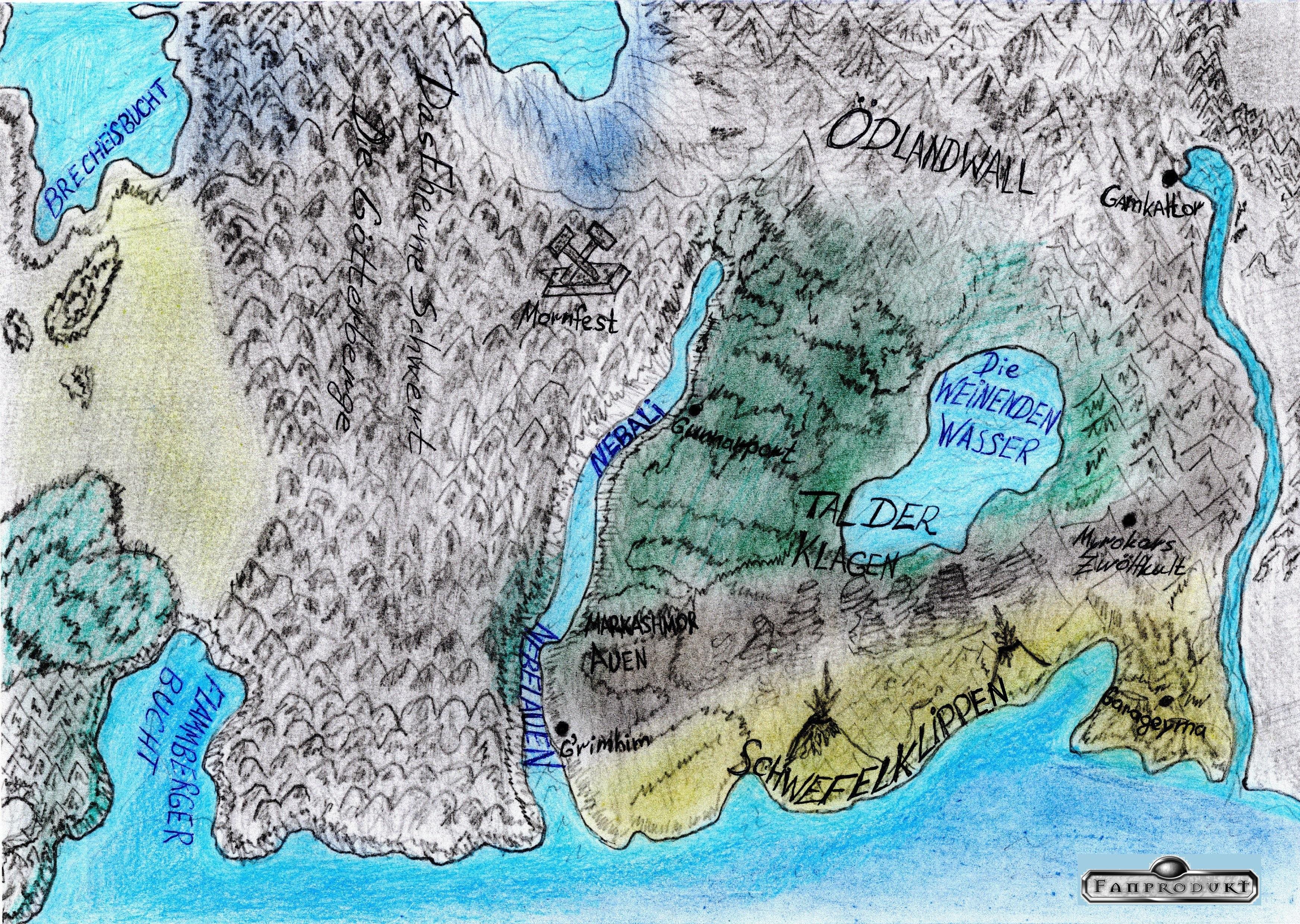 Karte vom Tal der Klagen