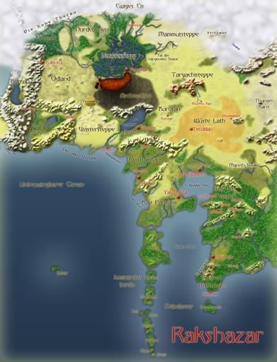 Karte von Rakshazar